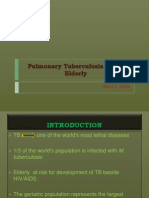 Pulmonary Tuberculosis in the Elderly