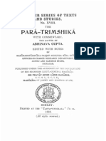 The Para Trimshika With Abhinvaguptas Commentary KSTS XVIII