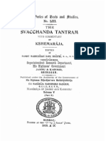 The Svacchanda Tantram With Comm by Kshemaraja - KSTS LIII