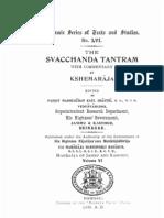 The Svacchanda Tantram With Comm by Kshemaraja - KSTS LVI