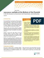 WSP Sanitation Markets Bottom Pyramid Peru