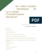 Uso de Las Redes Sociales Como Estrategias de Aprendizaje