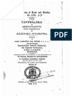 The Tantraloka of Abhinavagupta Vol XI - KSTS LVII