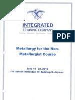 Metallurgy for Non-Metallurgist