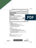 GCSE Music Question Paper