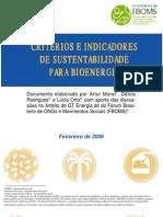 2006 - Indicadores de Bioenergia ... . ...