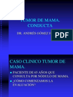 Tumor de Mama. Conducta