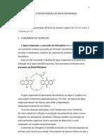 Relatório determinação da concentração da água oxigenada