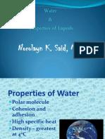 Water and Liquid Properties