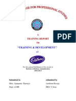 Cadburyrtraining&Development