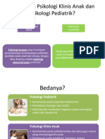 Psikologi Pediatrik dan Klinis Anak