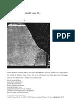 L'epigrafe di Montoro - III secolo d.C. circa
