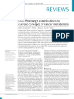 Otto Warburg's contributions to cancer metabolism