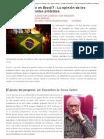 ¿Qué está pasando en Brasil_ - La opinión de los sociólogos sobre estas protestas