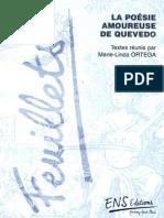 Arellano, Ignacio - La Amada, el Amante y los Modelos Amorosos en la Poesia de Quevedo