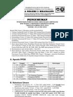 PENGUMUMAN PPDB SMANDA 2013-2014