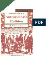 Lewellen, Ted - Introduccion a La Antropologia Politica[1]