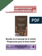 Temario Guía para GP-Preparación para la lluvia tardía.