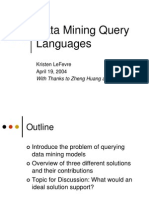 Data Mining Query Languages (2)