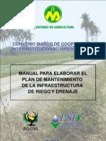 Plan Mantenimiento Infraestructura Riego y Drenaje