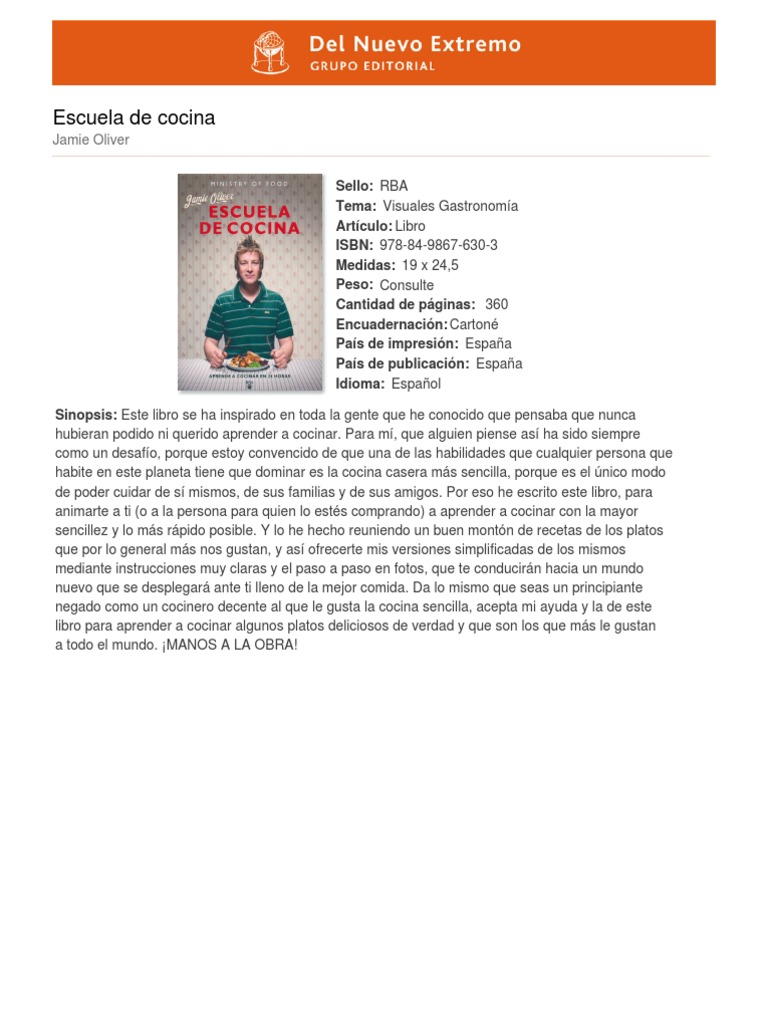 Libro de cocina Jamie Oliver.pdf | Gastronomía | Ocio