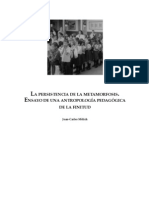 Melich, J. C. Persistencia de La Metamorfosis