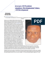 89th Birth Anniversary of President Ranasinghe Premadasa Developmental Values and the Value of Development