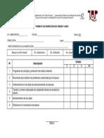 Formato de Inspeccion de Orden y Aseo