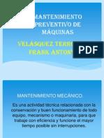 MANTENIMIENTO PREVENTIVO DE MÁQUINAS