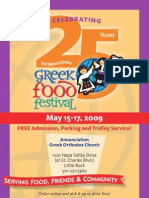 Greek Food Fest Program 2008