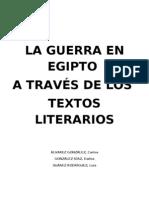 LA GUERRA A TRAVÉS DE LOS TEXTOS LITERARIOS