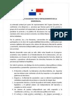 Declaracion Ciudadana Por El Fortalecimiento de La Democracia