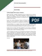 22-06-2013 Boletín 033 Confirma Rogelio Ortiz el apoyo ciudadano