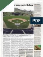 baseball hits homerun in holland