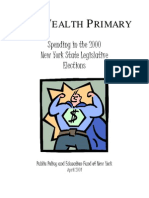 The Wealth Primary --Spending in the 2000 New York State Legislative Elections