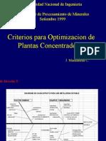 Optimizacion de Plantas Concentradoras JMC-UNI