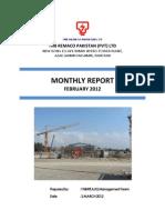 Monthly Report Feb 2012 Laraib