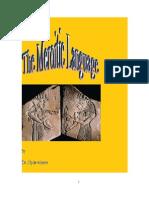 The Meroitic Language - Winters