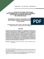 Identificación de factores asociados deserción