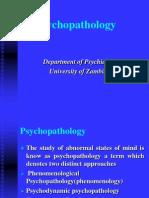 Psychopathology 6th Year Revised