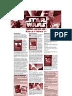 Star Wars CCG - Reflections III Rules