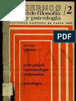 Piaget Epistemologia Genetica UANL