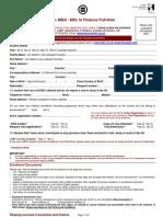 London ACCA+MBA MSc in Finance FT Application Form