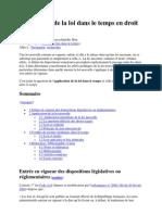 Application de la loi dans le temps en droit français - Wikipédia