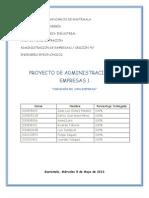 PROYECTO DE ADMINISTRACIÓN DE EMPRESAS 1