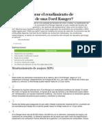 Cómo mejorar el rendimiento de combustible de una Ford Ranger