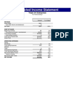 Projeted Income Statement
