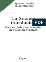 Thesmar, David - La société translucide