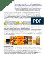Alimentos Pa No Sufrir Diabetes