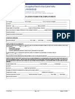 Application Form for Employment General Information Last Name